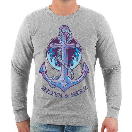 Männer Sweatshirt Hafen & Herz