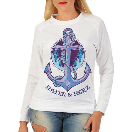 Frauen Sweatshirt Hafen & Herz