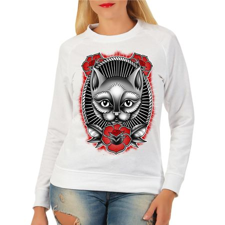 Frauen Sweatshirt Cat lover