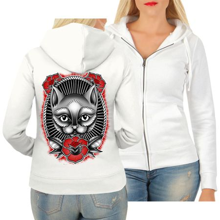 Frauen Kapujacke Cat lover