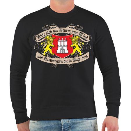 Männer Sweatshirt Hüte dich Hamburg