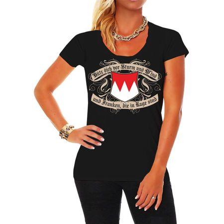 Frauen Shirt Hüte dich Franken