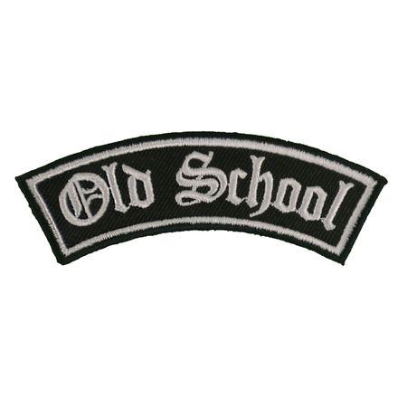 Bügel Aufnäher Old School