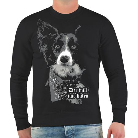 Männer Sweatshirt Border Collie HÜTEHUND