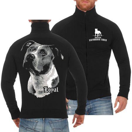 Männer Freizeitjacke American Staffordshire Terrier - treuer Freund