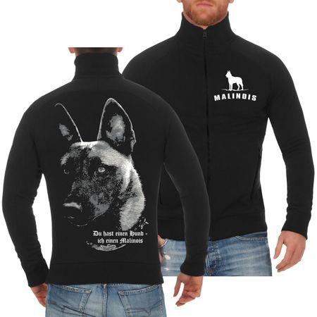 Männer Sweatjacke Malinois - Du hast einen Hund...