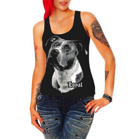 Frauen Trägershirt American Staffordshire Terrier - treuer Freund