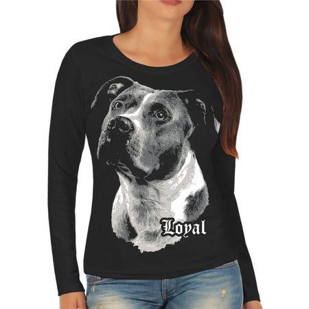 Frauen Longsleeve American Staffordshire Terrier - treuer Freund