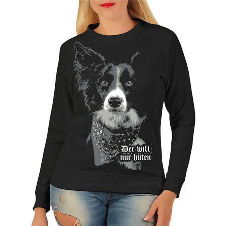 Frauen Sweatshirt Border Collie HÜTEHUND