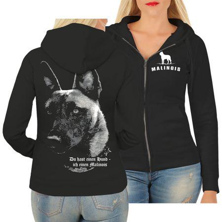 Frauen Kapujacke Malinois - Du hast einen Hund...