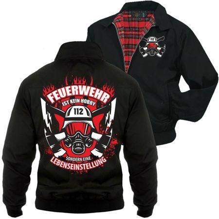 Männer Harrington Jacke Feuerwehr ist eine Lebenseinstellung