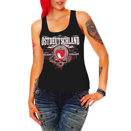 Frauen Trägershirt Ostdeutschland geliebt gehasst