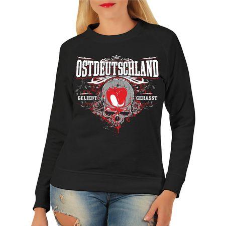 Frauen Sweatshirt Ostdeutschland geliebt gehasst