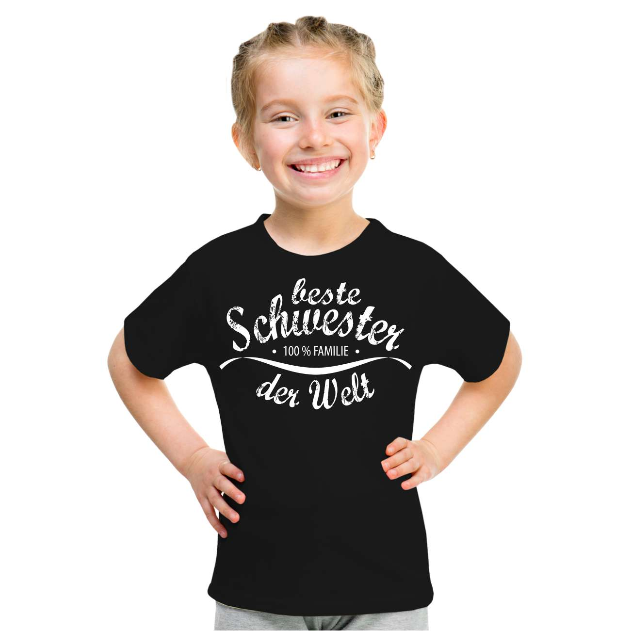 kinder t shirt beste schwester gr e 86 164 m dchen. Black Bedroom Furniture Sets. Home Design Ideas