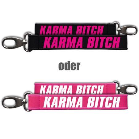 Neopren Schlüsselanhänger Karma Bitch