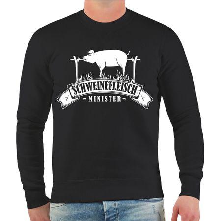 Männer Sweatshirt Schweinefleisch Minister