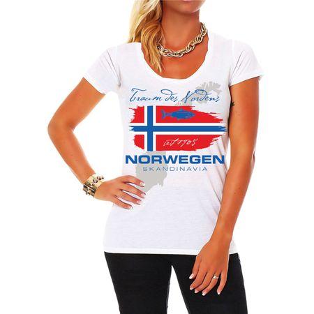 Frauen Shirt Norwegen Traum des Nordens