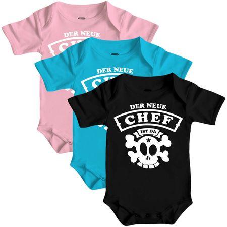 Baby Body Strampler kurz Der neue CHEF ist da