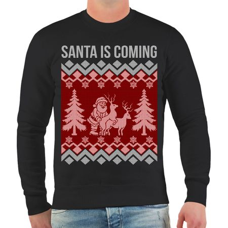 Männer Sweatshirt XMAS Santa is coming