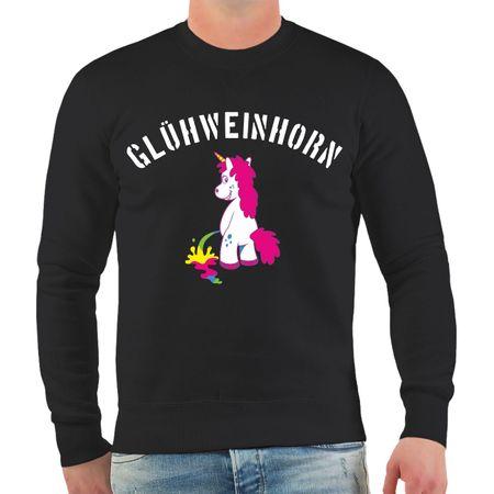 Männer Sweatshirt Weihnachtsmarkt Glühweinhorn