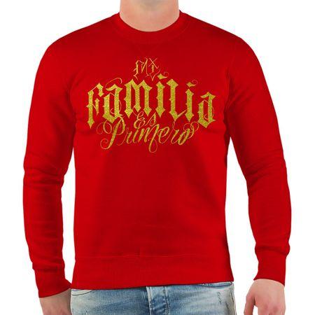 Männer Sweatshirt Mi Familia es Primero GOLD