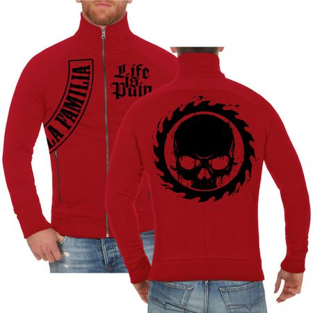 Männer Sweatjacke Life Is Pain BLACK