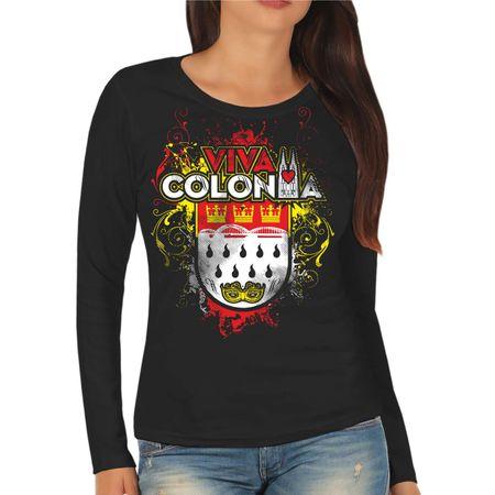 Frauen Longsleeve Karneval Köln VIVA Colonia