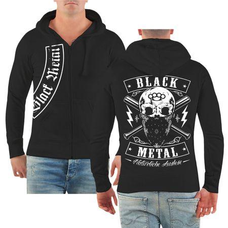 Männer Kapuzenjacke BLACK METAL