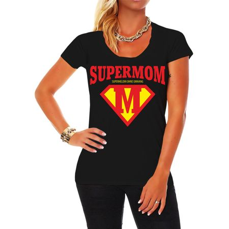 Frauen Shirt Muttertag Super Mom