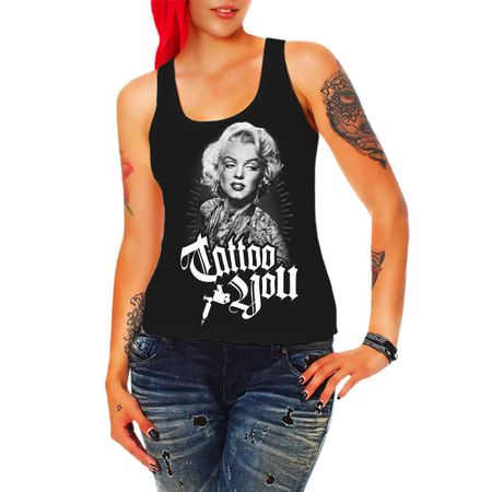 Frauen Trägershirt Marilyn Tattoo You