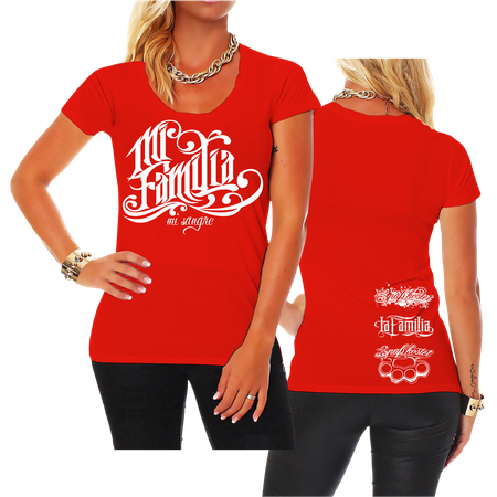 Frauen Shirt La Familia Mi Familia Mi Sangre