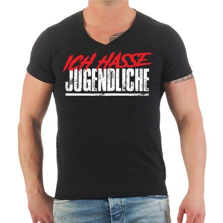 Männer T-Shirt Ich hasse Jugendliche