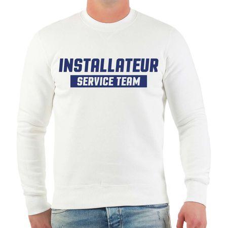 Männer Sweatshirt Installateur Service Team
