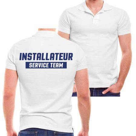 Männer POLO Installateur Service Team