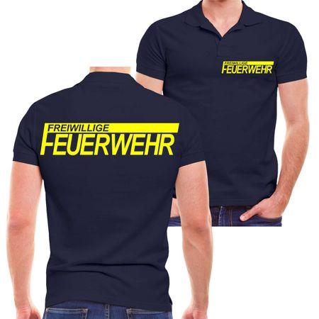 Männer POLO FFW Freiwillige Feuerwehr NEONGELBER Druck