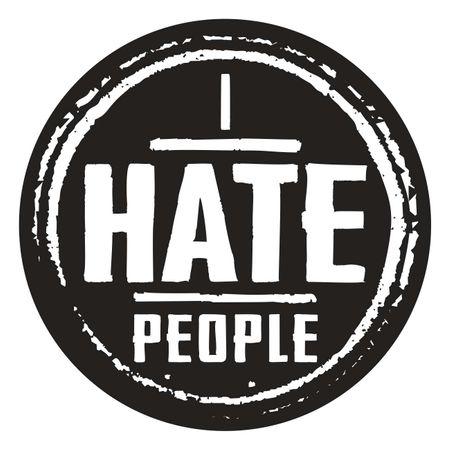 Aufkleber I hate people