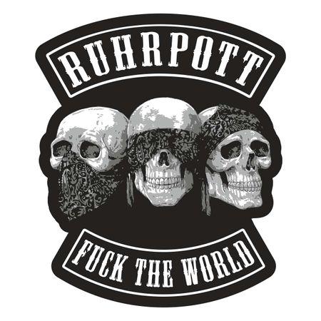 Aufkleber RUHRPOTT Fuck the World