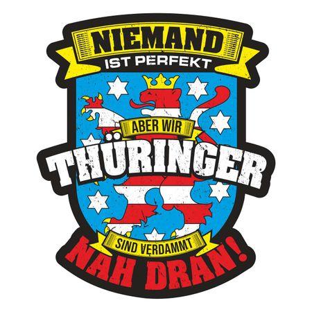 Aufkleber Thüringer sind nah dran