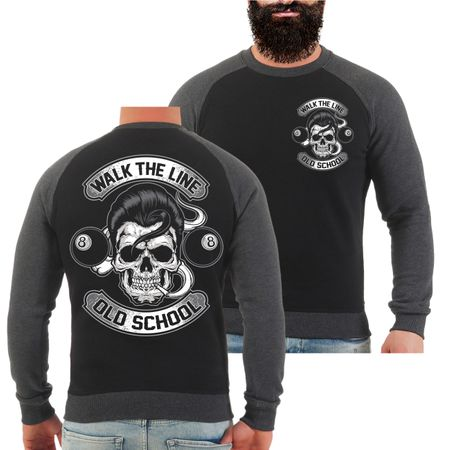 Männer Sweatshirt Rockn Roll Rockabilly Old School