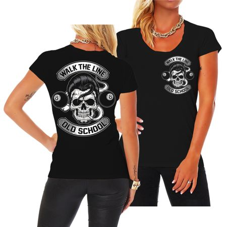 Frauen Shirt Rockn Roll Rockabilly Old School