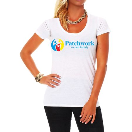 Frauen Shirt Patchwork we are family