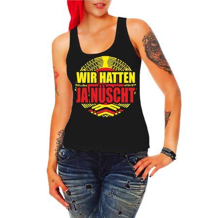Frauen Trägershirt DDR Wir hatten ja nüscht