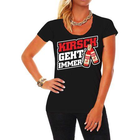 Frauen Shirt Kirsch geht immer