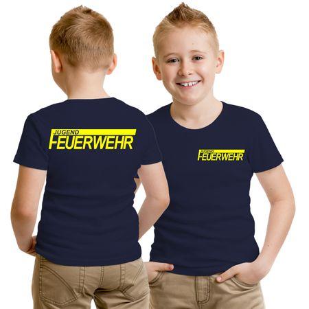 Kinder T-Shirt Jugendfeuerwehr NEONGELBER Druck