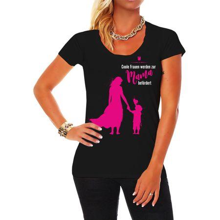Frauen Shirt Coole Frauen werden zur MAMA befördert