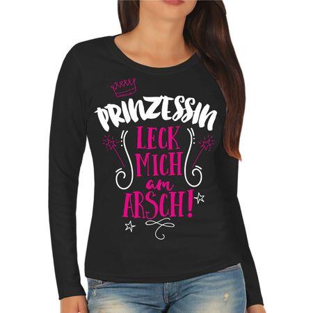 Frauen Longsleeve Prinzessin LECK MICH AM ARSCH