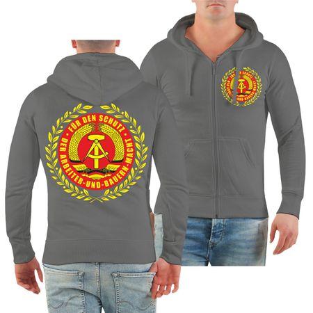 Männer Kapuzenjacke DDR Für den Schutz der Arbeiter und Bauernmacht