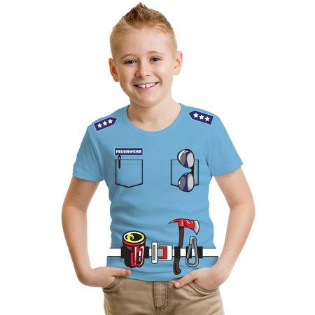Kinder T-Shirt Kinder Uniform FEUERWEHR Druck