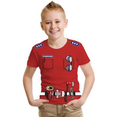 Kinder T-Shirt Uniform FEUERWEHRMANN Feuerwehr Druck