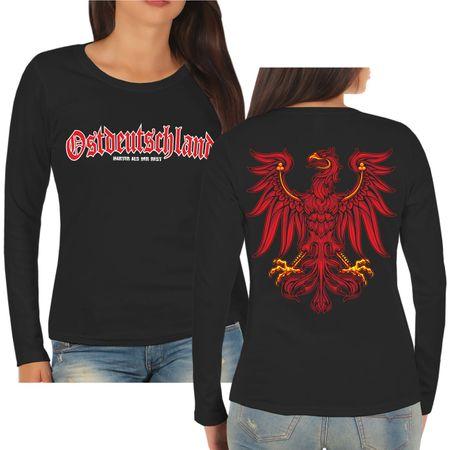 Frauen Longsleeve Ostdeutschland Brandenburg